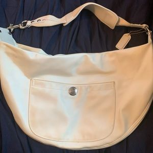 Large White Coach Purse